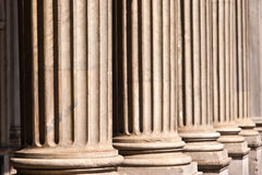 Some pillars. Some old pillars in rome royalty free stock photos