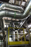 Some pipe insulation to distribute  water Royalty Free Stock Images