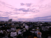 Some place in Bangkok city scape in Dark tone Stock Photos