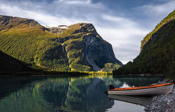 At some place near the Olden in Norway Royalty Free Stock Image