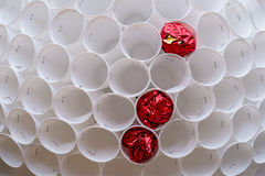 Some plastic cups as a dust bin.  Royalty Free Stock Photography