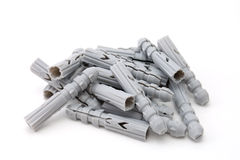 Some plastic dowels Stock Images