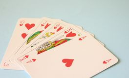 Some poker cards Royalty Free Stock Images