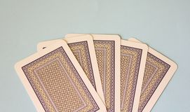 Some poker cards Royalty Free Stock Photos