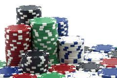 Some poker tokens Stock Image