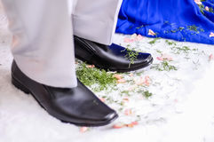 Potpourri on shoe Royalty Free Stock Photography