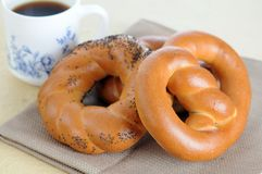 Some pretzel ring style bread Royalty Free Stock Photography