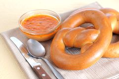 Some pretzel ring Stock Photo