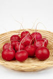 Radishes. Some radishes on the white background Royalty Free Stock Photo