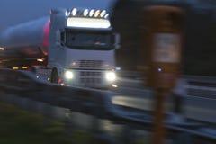 Rainy highway traffic at night. Some rainy highway traffic at night Stock Photos