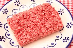 Minced meat. Some raw minced meat of beef and pork Royalty Free Stock Photos