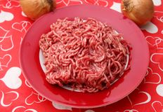 Raw minced meat. Some raw minced meat of beef and pork Stock Photo