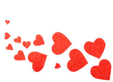 Some red hearts. On a white background Stock Images