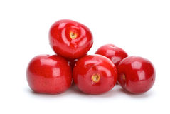 Some red ripe cherries Royalty Free Stock Photo