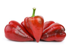 Some red sweet peppers Royalty Free Stock Image