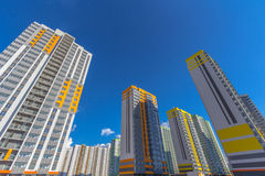 Some residential buildings. With sky at background Royalty Free Stock Photos