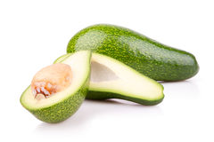 Some ripe avocado isilated. Some ripe avocado on a white background Royalty Free Stock Photos