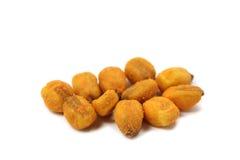Some roasted crispy corn. Closeup Stock Photos