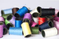 Some roles of twine. A couple of colorful roles of twine stock photos