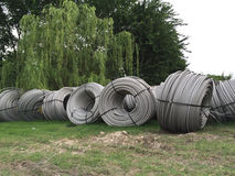 Some Rolls of cable Stock Images