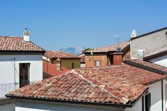Some roofs with tiles Stock Photo
