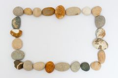 Some round and colored stones. Detailed view Royalty Free Stock Photo