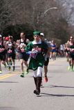 Some runners wore customs in the Boston Marathon April 18, 2016 in Boston. Royalty Free Stock Photos
