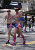 Some runners wore customs in the Boston Marathon April 18, 2016 in Boston. Royalty Free Stock Photo