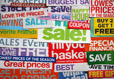 Some sale blurbs background royalty free stock image