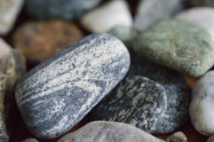 Some scattered pebble. Close up stock images