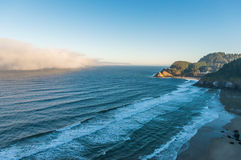 Some scenic view of the beach in Heceta Head Lighthouse State Sc. Enic Area,Oregon,USA Royalty Free Stock Image