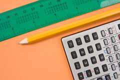 Some of school supplies Stock Image
