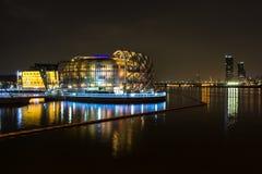 Some Sevit. Sevit Islands on the han river taken at night. Seoul city landmark near banpo park in South Korea Stock Photography