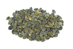 Some shelled pumpkin seeds Stock Photos