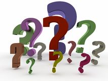 Some shiny question mark Royalty Free Stock Photos