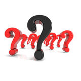 Some shiny question mark in red Stock Photo