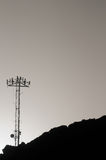 Some Silhouetted Antennas Royalty Free Stock Image