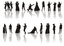 Some silhouettes Royalty Free Stock Image