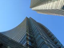 Some skylines from the city of Milan. Beautiful caption of the skyline with a blue sky from milan Stock Photo