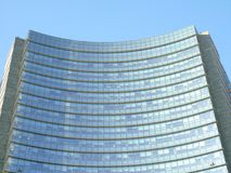 Some skylines from the city of Milan. Beautiful caption of the skyline with a blue sky from milan Stock Photos