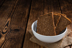 Some slices of brown Bread Royalty Free Stock Photos