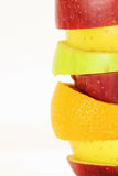 Some slices of different fresh fruits. (details Stock Images