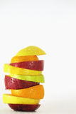 Some slices of different fresh fruits Stock Photography