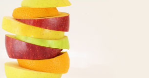 Some slices of different fresh fruits. (details Royalty Free Stock Image