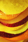Some slices of different fresh fruits. (details Stock Photography