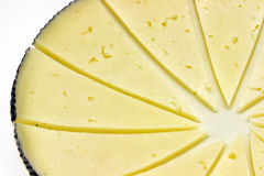 Some slices of manchego cheese. Typical of Spain, isolated on a white background Stock Images
