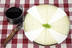 Some slices of manchego cheese. Typical of Spain Stock Images