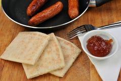 Some slices organic irish potato bread Stock Images