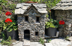 Small stone house typical of valtellina. Some Small stone house typical of valtellina Stock Photos