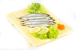 Some smelts isolated on white background Royalty Free Stock Photos